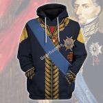 Gearhomies Unisex Hoodie Charles XIV John of Sweden Marshal General in Napoleic War Historical 3D Apparel