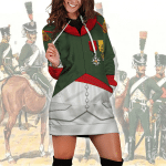 Gearhomies Dress Hoodie Napoleon in Chasseur-Cheval Historical 3D Apparel