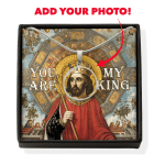 Gearhomies Jewelry Custom Photo King Alfonso III You Are My King Circle Pendant with Message Card
