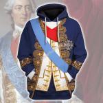 Gearhomies Unisex Hoodie Louis XV of France Historical 3D Apparel