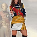 Gearhomies Dress Hoodie Louis Nicolas d'Avout Historical 3D Apparel
