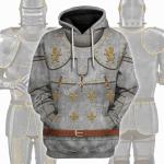 Gearhomies Unisex Hoodie Medieval Suit of Armor Historical 3D Apparel