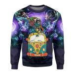 Gearhomies Unisex Sweatshirt Yoda 3D Apparel