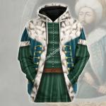 Gearhomies Unisex Hoodie Sultan Mehmed II Ottoman Empire Historical 3D Apparel