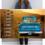 Gearhomies Personalized Canvas Vintage Truck