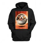 Gearhomies Personalized Hoodie Pug Dog Baby Yoda