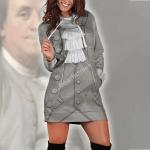 Gearhomies Dress Hoodie Benjamin Franklin Historical 3D Apparel