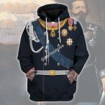 Gearhomies Unisex Hoodie Victor Emmanuel II - King of Italy Historical 3D Apparel
