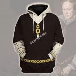 Gearhomies Unisex Hoodie Maria Tudor Historical 3D Apparel