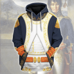 Gearhomies Unisex Hoodie Joachim-Napoleon Mura Historical 3D Apparel