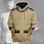 Gearhomies Unisex Hoodie Theodore Roosevelt Historical 3D Apparel