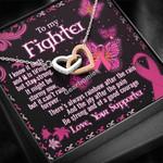 Gearhomies Jewelry To My Breast Cancer Wife Interlocking Heart Necklace