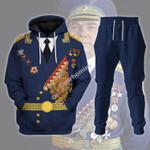 Gearhomies Tracksuit Hoodies Pullover Sweatshirt Soviet Pilot Ivan Kozhedub Historical 3D Apparel