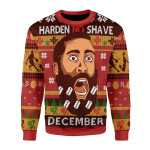 Merry Christmas Gearhomies Unisex Christmas Sweater Harden No Shave December 3D Apparel