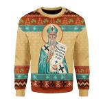 Merry Christmas Gearhomies Unisex Christmas Sweater St. Patrick 3D Apparel