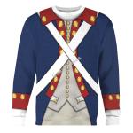 Gearhomies Unisex Sweatshirt Patriot Soldier in American Revolution 3D Apparel