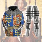 Gearhomies Tracksuit Hoodies Pullover Sweatshirt King Richard II Historical 3D Apparel