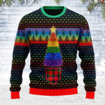 Merry Christmas Gearhomies Unisex Ugly Christmas Sweater LGBTQ+ Christmas Tree 3D Apparel