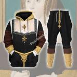 Gearhomies Tracksuit Hoodies Pullover Sweatshirt Catherine of Aragon Queen of England Historical 3D Apparel