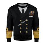 "Gearhomies Unisex Sweatshirt Admiral Of The Fleet Andrew Browne Cunningham ""ABC"" 3D Apparel"