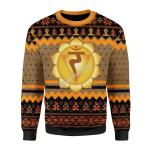 Merry Christmas Gearhomies Unisex Christmas Sweater Solar Plexus Chakra 3D Apparel