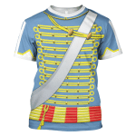 Gearhomies Unisex T-Shirt Napoleonic of the French Hussars 3D Apparel