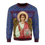 Merry Christmas Gearhomies Unisex Christmas Sweater St. Archangel Michael 3D Apparel