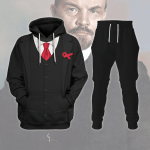 Gearhomies Tracksuit Hoodies Pullover Sweatshirt Vladimir Lenin Historical 3D Apparel