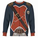 Gearhomies Unisex Sweatshirt Napoleon Infantryman 3D Apparel