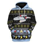 Gearhomies Unisex Tops Pullover Sweatshirt Star Trek 3D Apparel