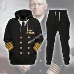 Gearhomies Tracksuit Hoodies Pullover Sweatshirt US Navy Fleet Admiral Chester W. Nimitz  Historical 3D Apparel