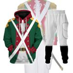 Gearhomies Tracksuit Hoodies Pullover Sweatshirt American Revolution Continental Marine Corps Officer Historical 3D Apparel