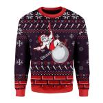 Merry Christmas Gearhomies Unisex Christmas Sweater Miley Cyrus 3D Apparel