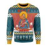 Merry Christmas Gearhomies Unisex Christmas Sweater Christ Jesus Holy Shot! Christmas 3D Apparel