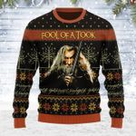 Merry Christmas Gearhomies Unisex Ugly Christmas Sweater  Fool Of A Took 3D Apparel
