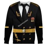 Gearhomies Unisex Sweatshirt Soviet Naval Captain 3D Apparel