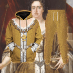 Gearhomies Tracksuit Hoodies Pullover Sweatshirt Anne Queen of Britian Historical 3D Apparel
