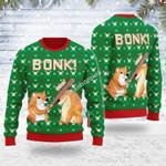 Merry Christmas Gearhomies Unisex Ugly Christmas Sweater Bonk Dog 3D Apparel