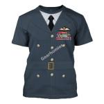 Gearhomies Unisex T-Shirt James Edgar 'Johnnie' Johnson 3D Apparel