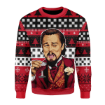 Merry Christmas Gearhomies Unisex Christmas Sweater Laughing Leo Meme