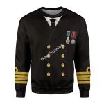 Gearhomies Unisex Sweatshirt Titanic Captain Edward John Smith 3D Apparel