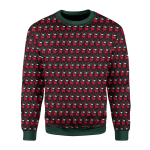 Gearhomies Christmas Unisex Sweater Red Among Us 3D Apparel