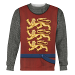 Gearhomies Unisex Sweatshirt English Knight 3D Apparel