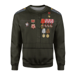 Gearhomies Unisex Sweatshirt Fighter Pilot Lydia V. Litvyak 3D Apparel
