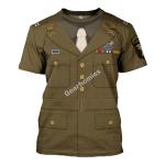 Gearhomies Unisex T-Shirt U.S General WWII 3D Apparel