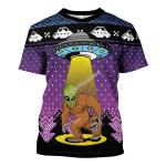 Gearhomies Unisex T-shirt Big Foot Alien 3D Apparel