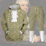 Gearhomies Tracksuit Hoodies Pullover Sweatshirt John Adams Historical 3D Apparel