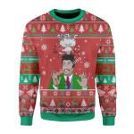Merry Christmas Gearhomies Unisex Christmas Sweater Neil Degrasse Tyson Science Big Bang 3D Apparel