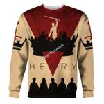 Gearhomies Unisex Sweatshirt King Henry V 3D Apparel