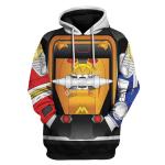 Gearhomies Unisex Tracksuit Hoodies Pullover Sweatshirt Legacy Ninja Megazord 3D Apparel